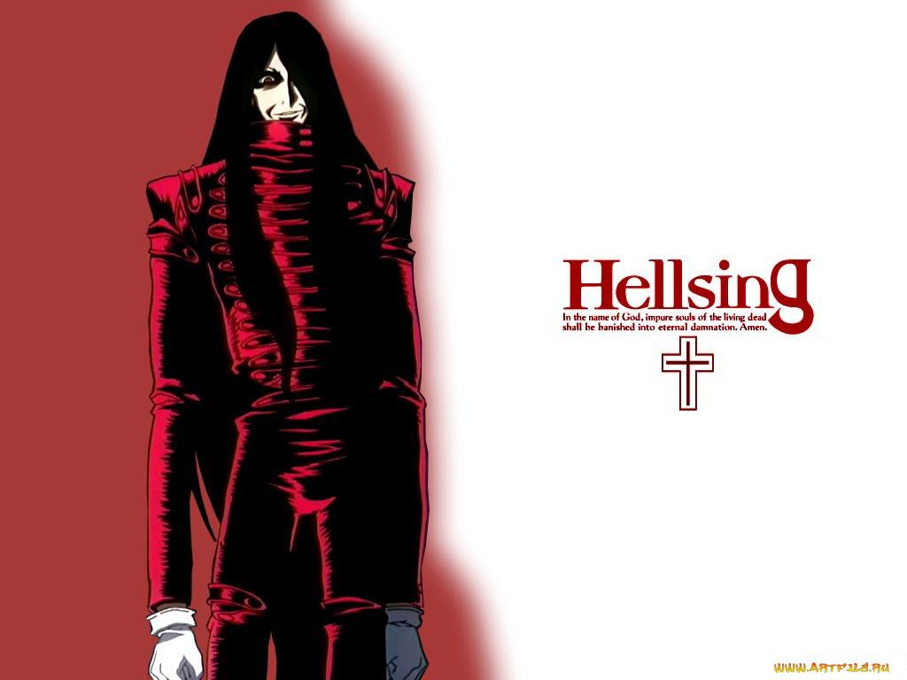аниме, hellsing, алукард, вампир, alucard